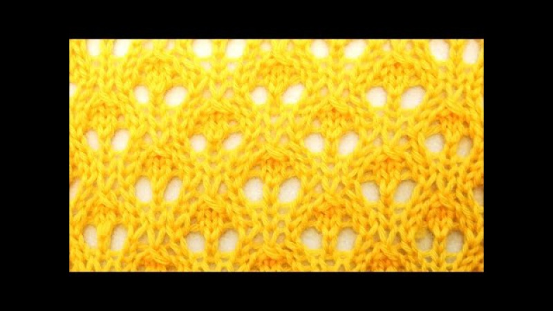 Lace Stricken Strickmuster Knospen - Knitting lace stitch Buds