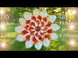DIY kanzashi flores destellos de hielo y fuego-DIY flowers kanzashi sparkles of Ice &amp Fire