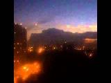 Чёрная туча с молниями  19 июня 2015  Ростов на Дону