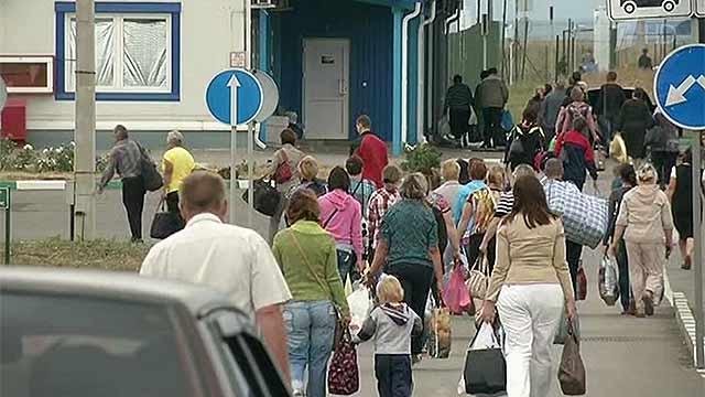 Украинские беженцы из Таганрога возвращаются домой