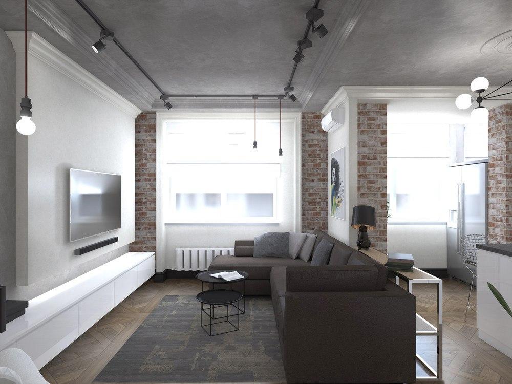 Проект квартиры 36 м для молодого мужчины.