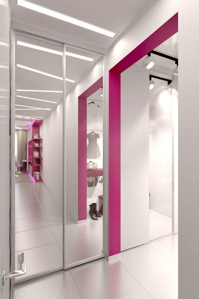 Проект квартиры-студии 34,5 м (+ лоджия 3 м) для девушки.