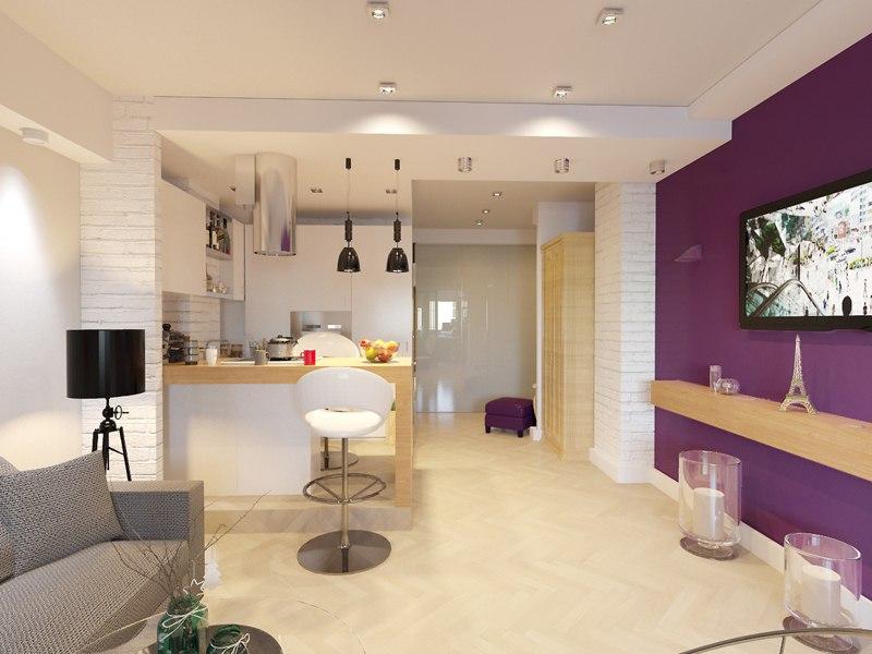 Проект и его реализация: квартира 38 м (с лоджией) в Красногорске.