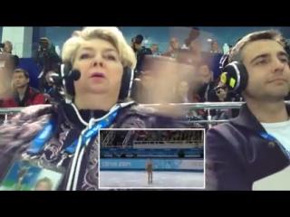 Уникальное видео. Татьяна Тарасова во время выступления Аделины Сотниковой на Олимпиаде в Сочи