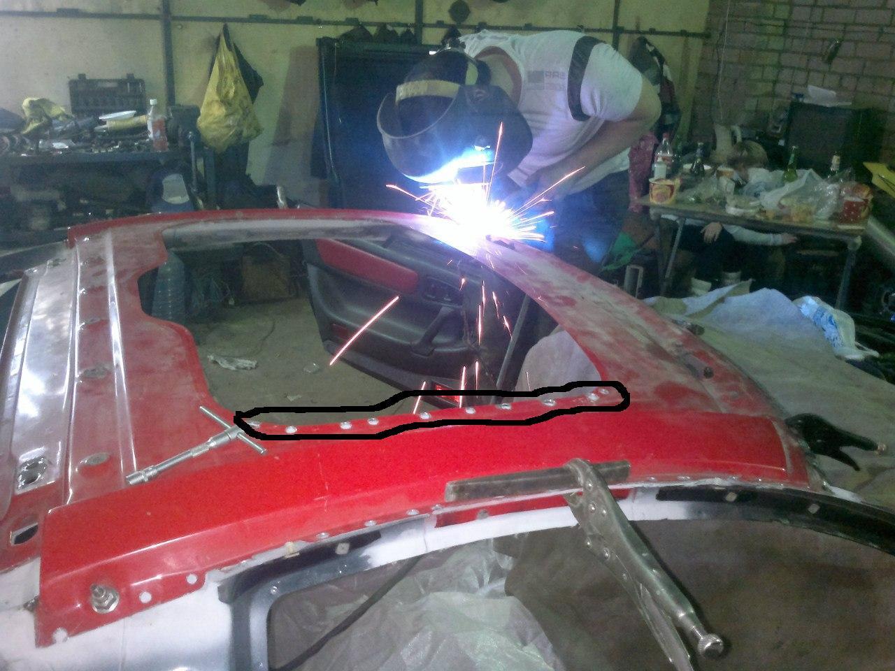 Как сделать люк на крышу автомобиля своими руками 10