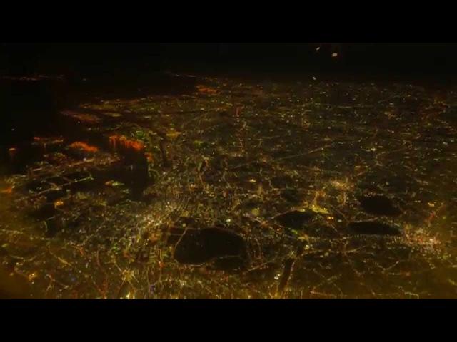 【4K】羽田空港離陸と東京の夜景 Haneda Airport and TOKYO night view