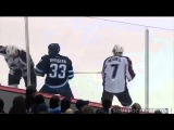 Dustin Byfuglien Big Hit on John Mitchell (2/8/15)