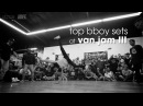 Top Bboy Sets at Van Jam III .stance x udeftour