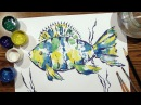 Speed Painting   Fish 1   Technique Monotype   Gouache   IOTN