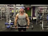 1 week out NY Pro 2013 shoulder training with Ankle strap +