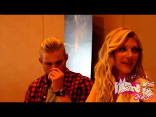 Vikings Press Room with Katheryn Winnick and Alexander Ludwig at SDCC