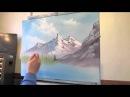 Mountain Scene Pt 2 Wet on Wet Painting Techique