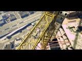 Трюки, прыжки с парашютом в GTA 5 от первого лица.