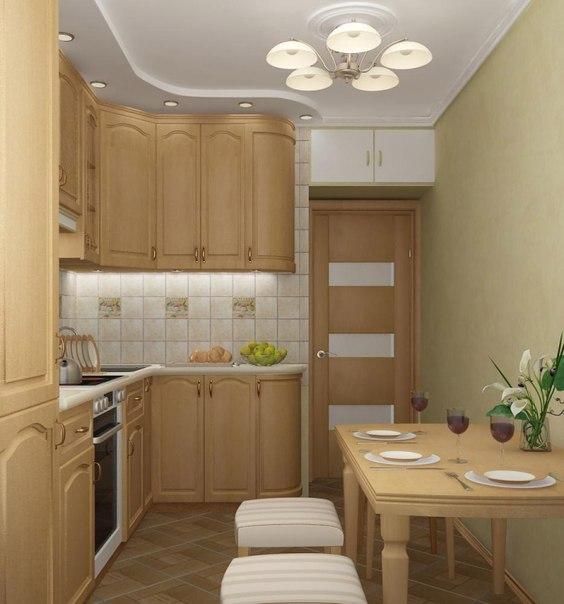 кухня маленькая дизайн фото в квартире