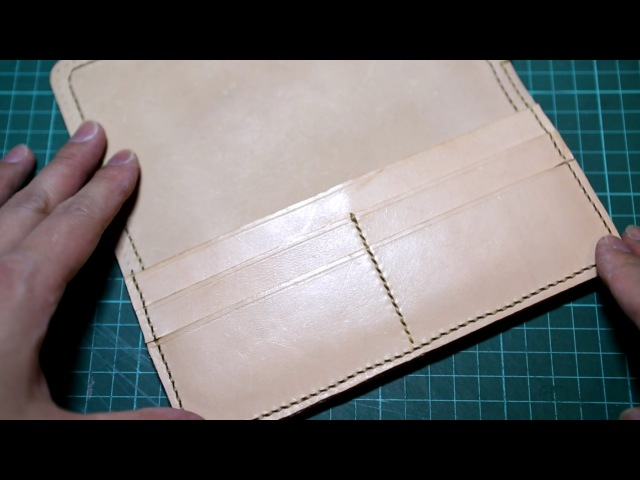 Making a Leather Biker Wallet - Part 2 Right Compartment