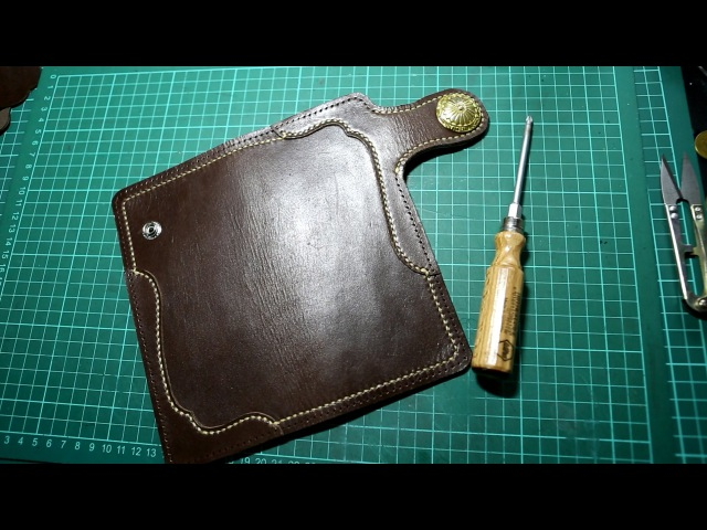 Making a Leather Biker Wallet - Part 1 The Cover