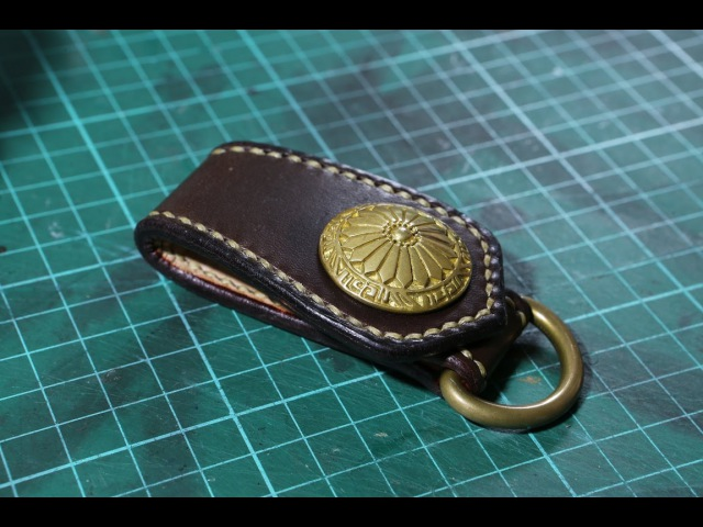 Making a leather belt loop key ring