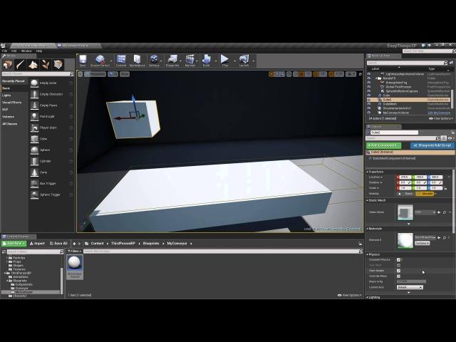 Making a Simple Converyor Volume | Live Training | Unreal Engine