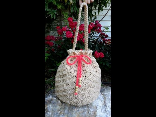 CROCHET How to Crochet Shell Stitch - Crochet Purse Handbag TUTORIAL 80 supersaver