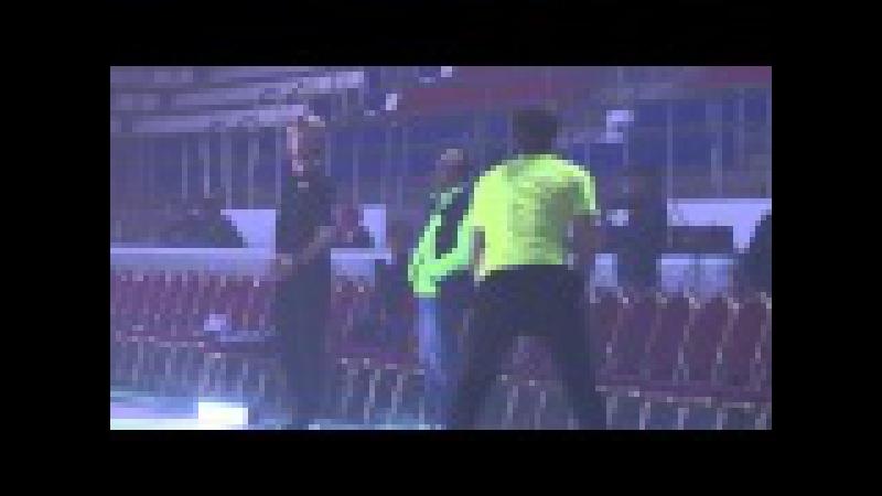 Евгений Плющенко и Бриан Жубер тренируют тройные аксели для шоу Короли льда.Краснодар.29.10.15