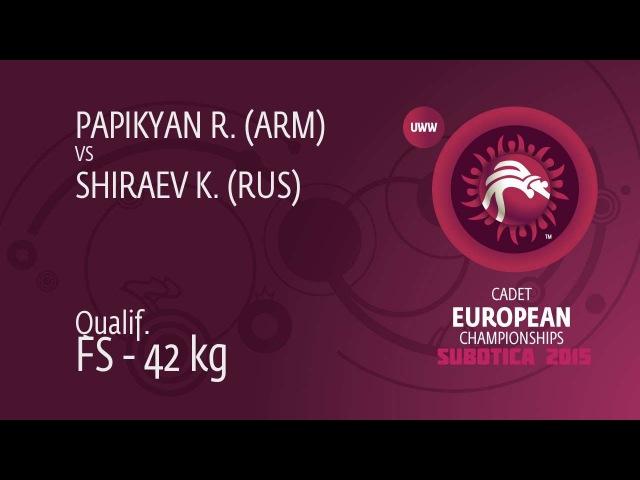 R. PAPIKYAN (ARM) df. K. SHIRAEV (RUS), 8-0