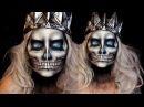 Skull Halloween Makeup Tutorial Lich King Jordan Hanz World of Warcraft