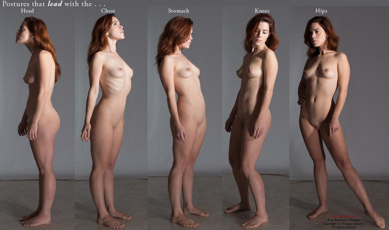 Nude women comparing clitoris