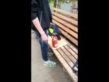 Как Илья пользуется огнетушителем