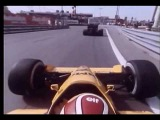 Crash on the concrete wall! Formula one On-board camera 70s/80s Detroit Lotus Honda 100T