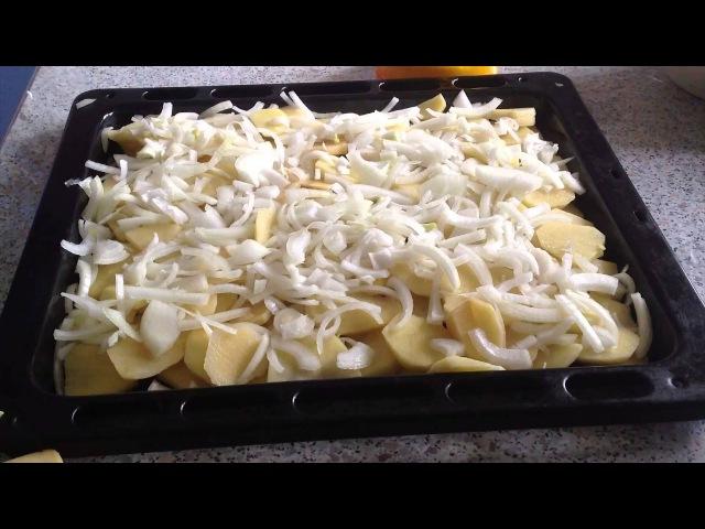 Картошка с фаршем в духовке Potatoes with meat in