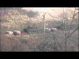 Украина. Передислокация танков армии Украины в зону боевых действий. Январь 2015
