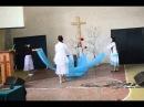Пасхальный танец с тканями