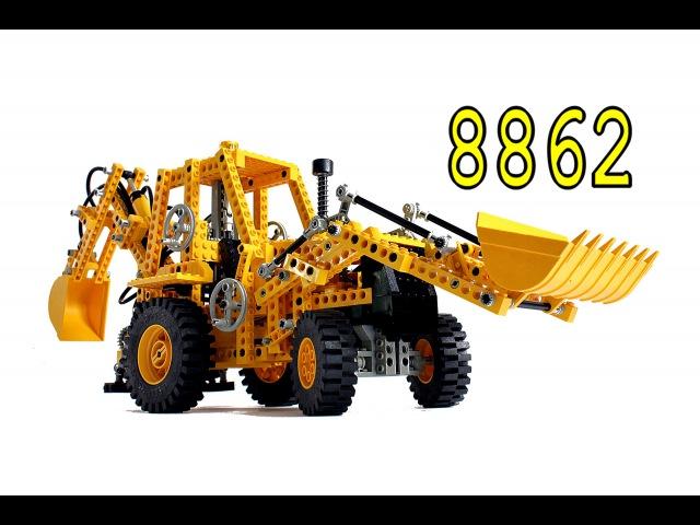 Lego Technic Экскаватор погрузчик 8862– Легенды Лего Техник – Обзор №5