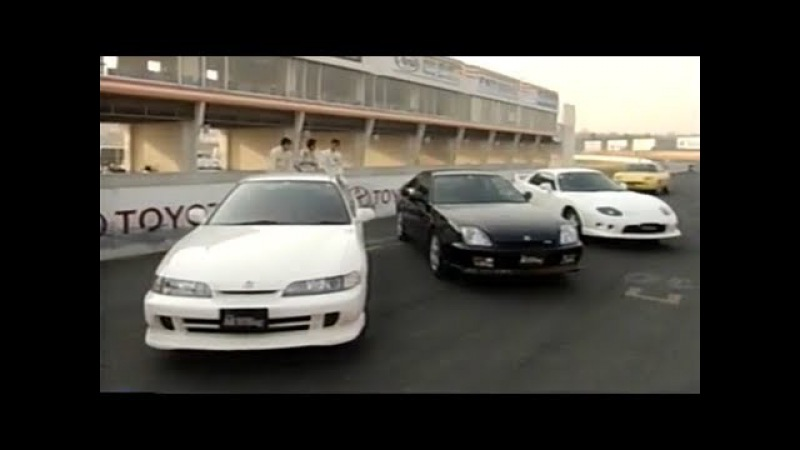 [ENG CC] FF Sports cars battle - Integra Type R, FTO R, Prelude S, Fiat Coupe in Tsukuba 1997