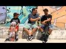 7 летний Caíque, трюки на скейте