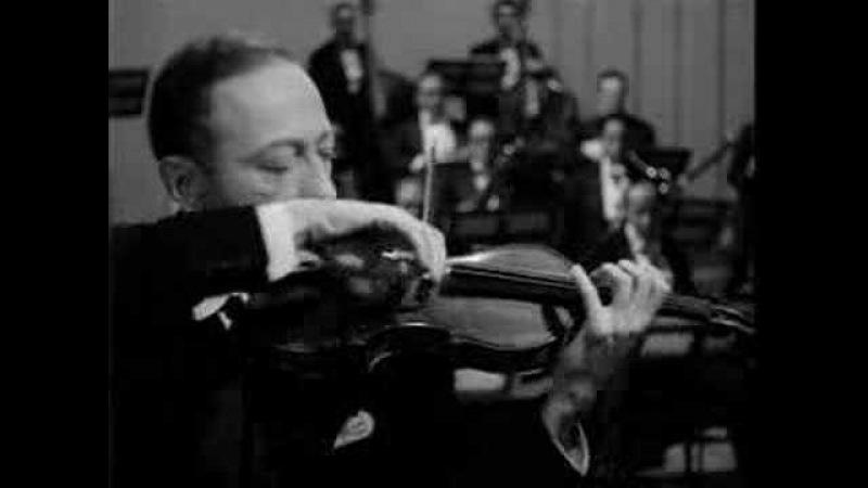 Jascha Heifetz plays Tchaikovsky Violin Concerto 1st mov.