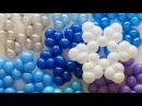 Простая снежинка из шаров / Simple snowflake of balloons (Subtitles)