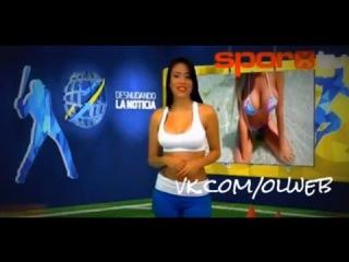 18+Телеведущая из Венесуэлы разделась, рассказывая о романе Криштиану Роналду с моделью Playboy