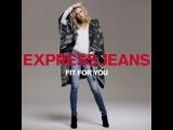 "EXPRESS on Instagram: ""Fall fashion update: How to wear your #ExpressJeans, starring #KarlieKloss & #ExpressMen. #ponchosarethenewcardigans @karliekloss"""