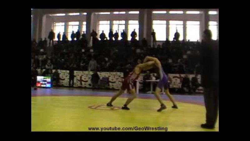 Levan Kavzharadze-Iuri Lomadze Final 60 kg Georgian Championship Juniors 2015 Tbilisi
