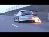 Mazda RX-7 Spitting Huge Flames from Exhaust!