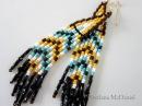 Native American Style Beaded Earrings Серьги из бисера