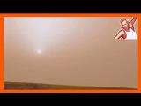 Закат на Марсе со звуком (пыльная буря)