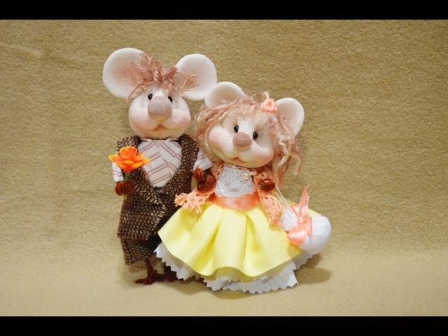 Куклы из капрона Мышки ❀ Dolls of nylon Mouse