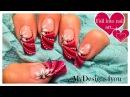Abstract Floral Nail Art Design   Pink Design for Long Nails ♥ Абстрактный Цветочный Дизайн Ногтей