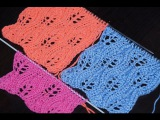 Вязание спицами для начинающих. Ажурный узор  ///  Knitting for beginners. openwork pattern
