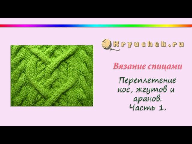 Узор из жгутов и аранов. Часть 1. (Knitting. Strands, braids and arans. Part 1.)