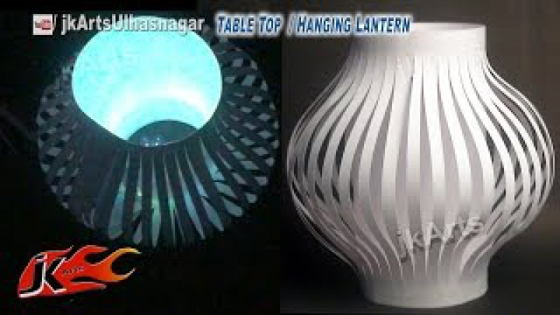DIY Paper Lantern / Kandil Decoration | Table Top and Hanging | How to make | JK Arts 587