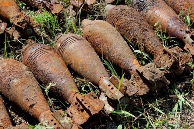 Под Таганрогом у мемориала «Самбекские высоты» нашли 59 мин времён ВОВ