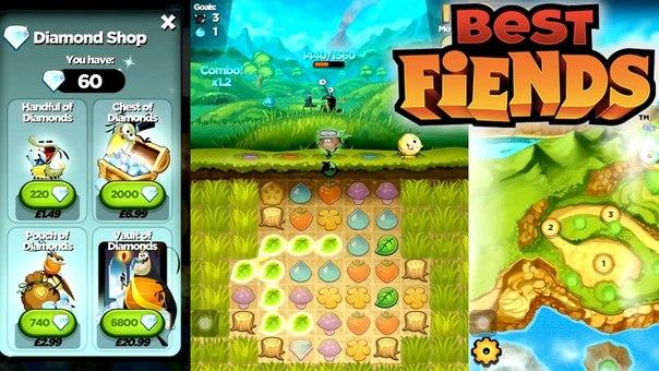 Best Fiends на Андроид - играй с реальными и виртуальными друзьями